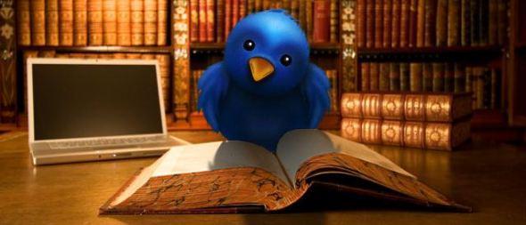 Bird reading book