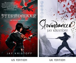 The US and UK covers of Stormdancer