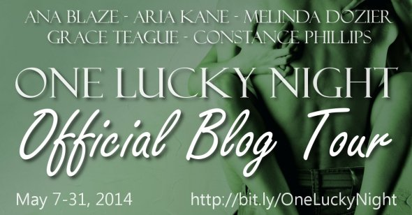 One Lucky Night blog tour banner