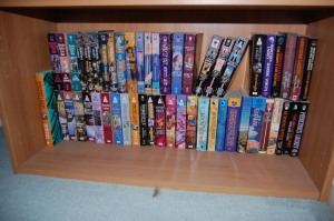 This is one shelf of my Mercedes Lackey books. There are more.
