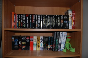 My Stephen King collection, hanging out with Jay Kristoff and Kermit.