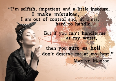 Meme Marilyn quote