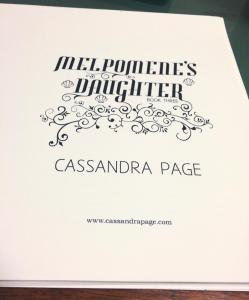 Melpomene's Daughter paperback title page