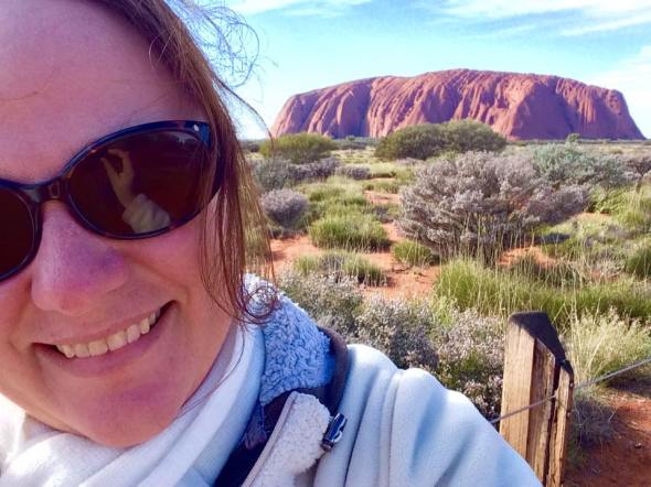 Cass at Uluru