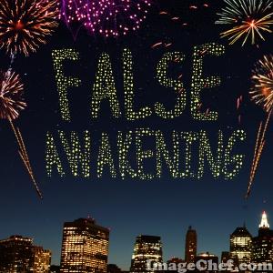 False Awakening title fireworks